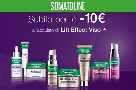 Offerta Somatoline sconto 10 linea Effect viso