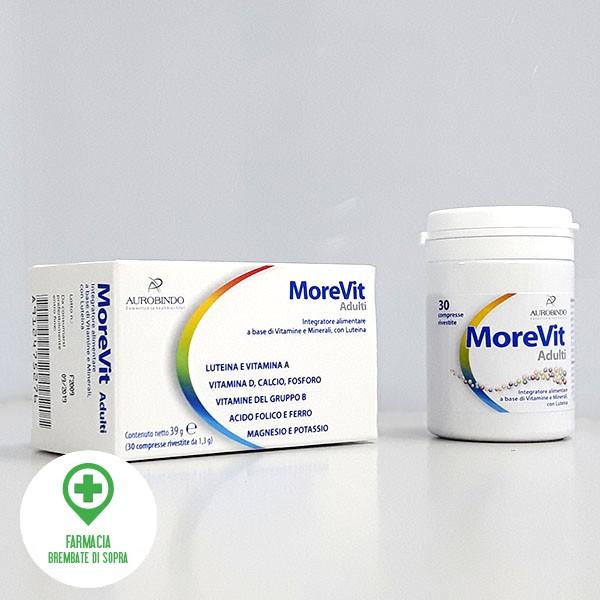 Morevit integratore alimentare a base di Vitamine e Minerali con Luteina
