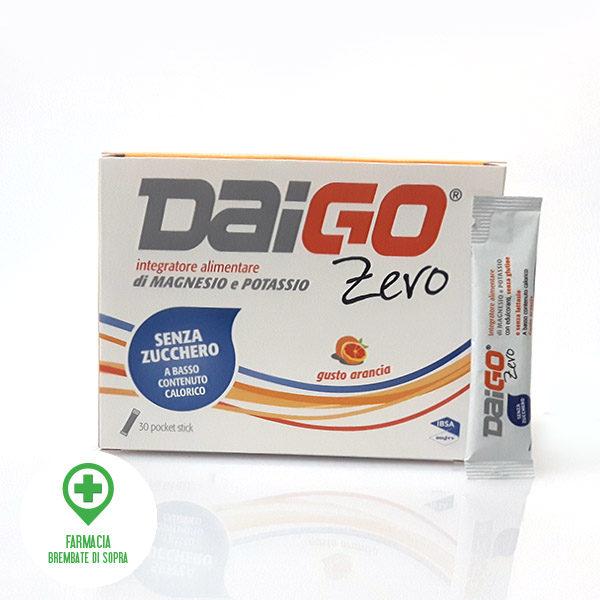 DaiGO integratore alimentare di Magnesio e Potassio Senza Zucchero gusto arancia