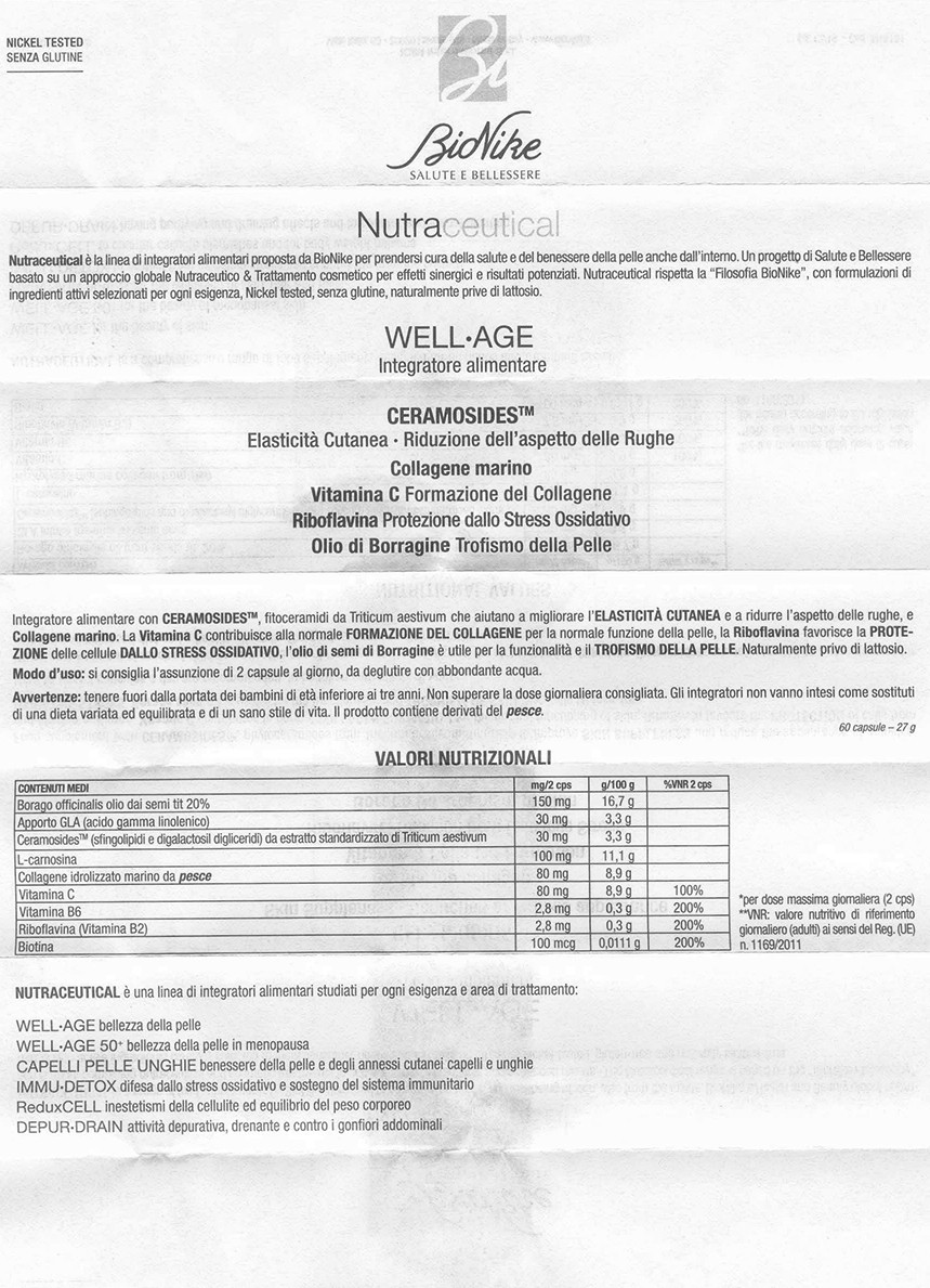 Bionike Nutraceutical Wellage 50 Farmacia Brembate