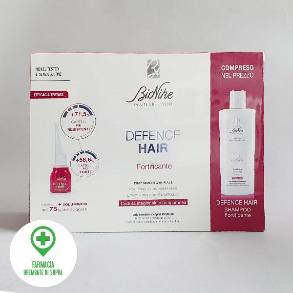 Bionike defence hair fortificante capelli, cofanetto con lozione e shampoo