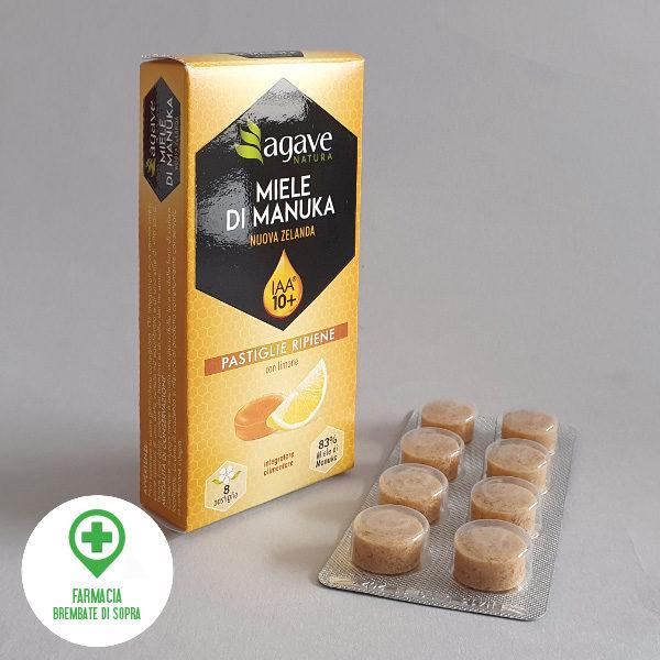 Miele di Manuka IAA 10+ pastiglie ripiene con limone